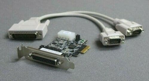 Fujitsu Dual Serial Port RS-232 Card With Splitter Cable CP-140 S26361-F3465-L7